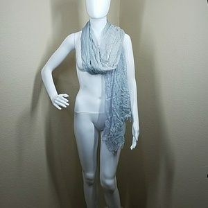 Blue and white shear scarf